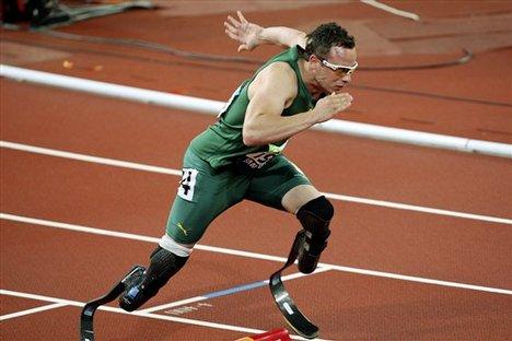Oscar Pistorius cerca de los Olímpicos